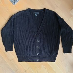 Forever21 - Black Cable Knit Cardigan with Buttons